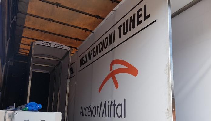 ArcelorMittal Zenica donirao dezinfekcione tunele JP za upravljanje i održavanje sportskih objekata Zenica