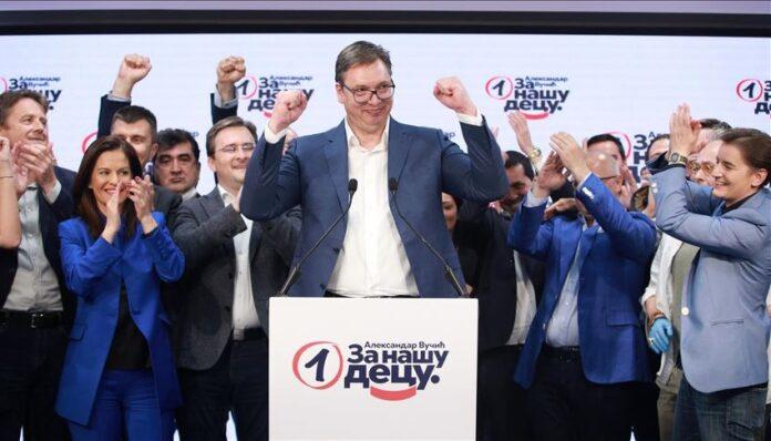 Aleksandar Vučić proglasio pobjedu na izborima u Srbiji