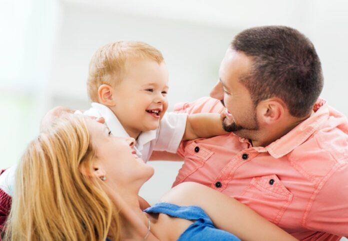 Loving Family At Home.
