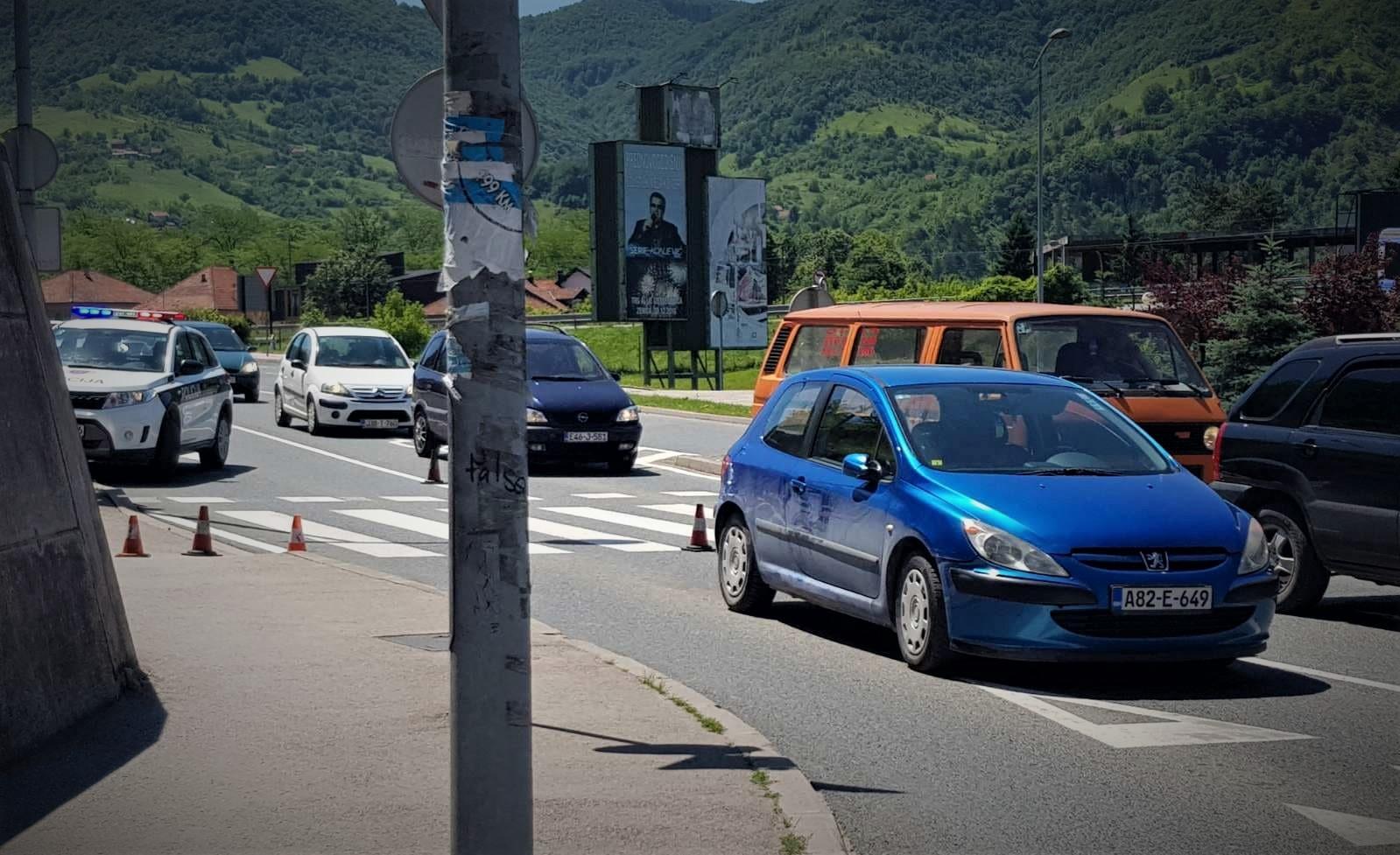 U jednom satu dvije saobraćajne nezgode u Zenici