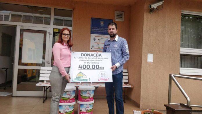 Almy donirao materijal za krečenje JU Centru za djecu i odrasle s posebnim potrebama