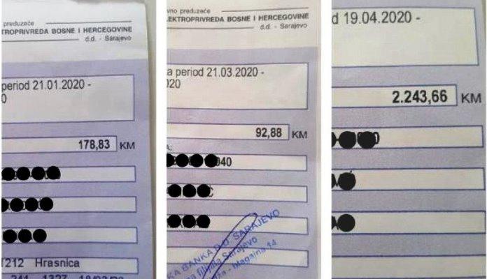 Sarajlija dobio račun za struju veći od 2.200 KM, iz EPBiH kažu da ne mogu pristupiti brojilu i da mora platiti