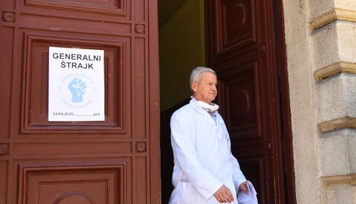 Ljekari i medicinari u KS nastavili s generalnim štrajkom