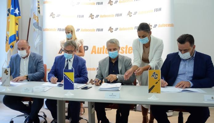 Potpisan ugovor o izgradnji dionice Tarčin – Konjic na Koridoru Vc