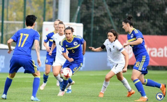 Ženska nogometna reprezentacija BiH ubjedljivo poražena u Zenici od Italije