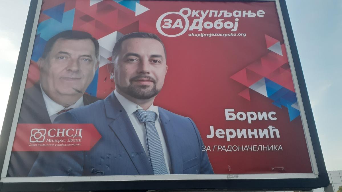 Bilbord U Doboju Dodik