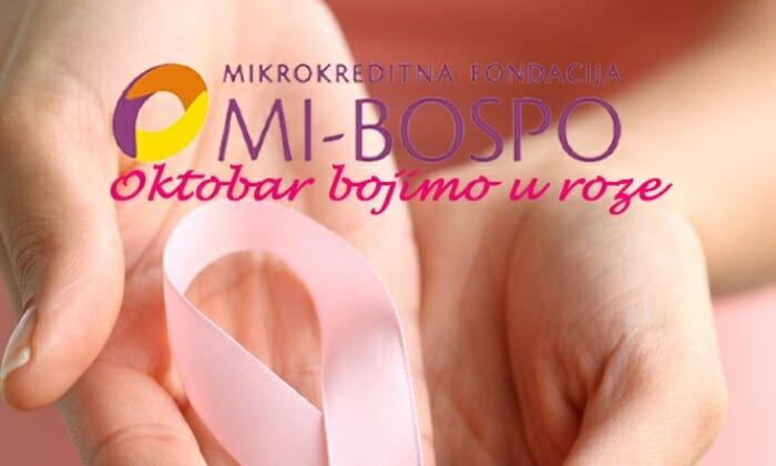 """MI-BOSPO provodi kampanju """"Oktobar bojimo u roze"""""""