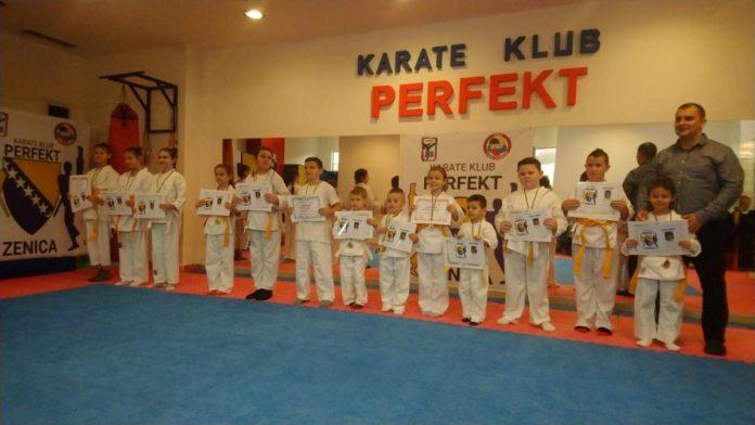 Održano polaganje za prva i viša učenička zvanja i pojaseve u karate klubu Perfekt Zenica