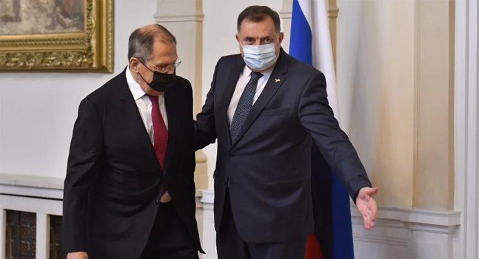 Milorad Dodik sam primio ruskog ministra Sergeja Lavrova