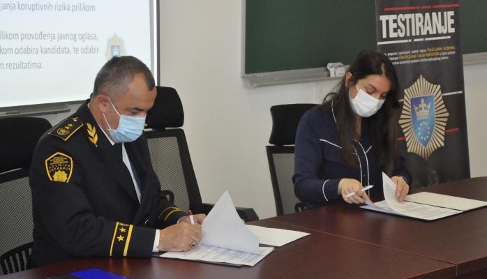 MUP ZDK i Transparency International u BiH potpisali sporazum o suradnji