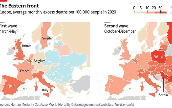 Drugi val pandemije je devastirao zemlje Istočne Evrope