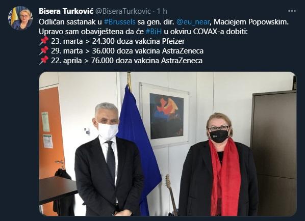 U BiH stiže 136.000 vakcina, poznati i tačni datumi