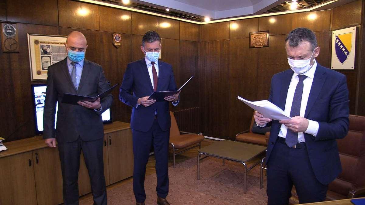 Mirnes Bašić imenovan za premijera ZDK, Mirsad Hadžić novi ministar (VIDEO)