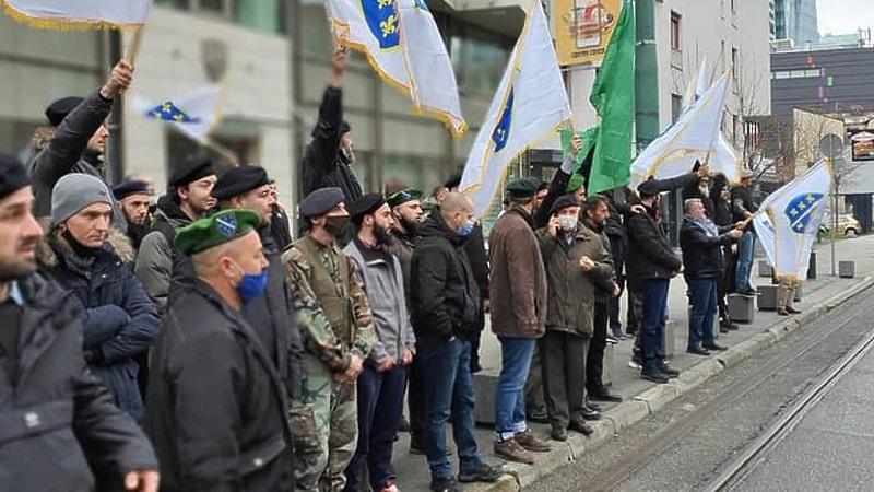Protesti Ispred Ambasade Slovenije