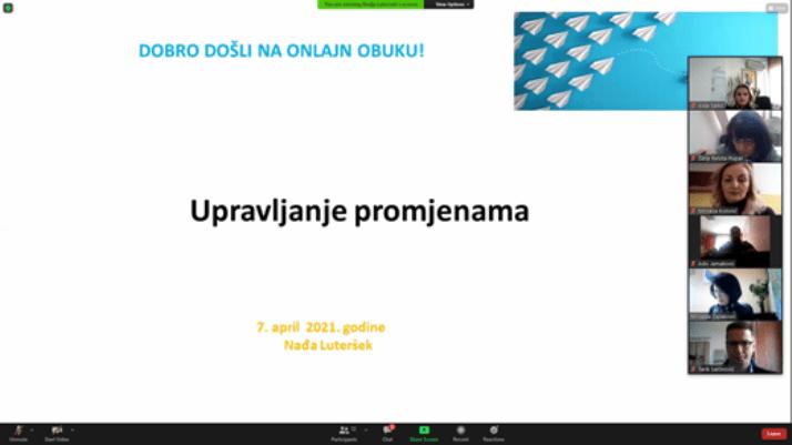 Održan webinar - Upravljanje promjenama u školi i online komunikacija (FOTO)