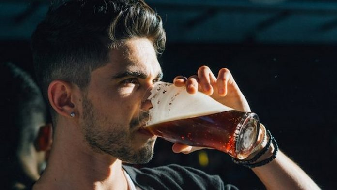 Handsome Man Drinking Beer