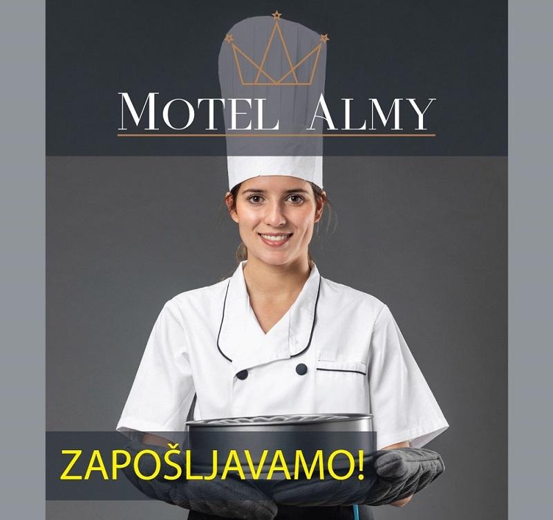 Prilika za posao: Potreban pomoćni kuhar/kuharica u Motelu Almy