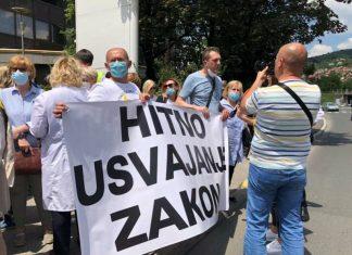 Protest Doktori Medicine Vlada FBiH