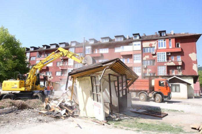 Rušenje objekta Trg rudara