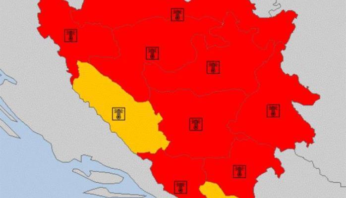 Zbog ekstremne temperature crveno upozorenje u BiH