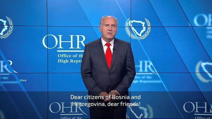 Oproštajno obraćanje visokog predstavnika Valentina Inzka (VIDEO)