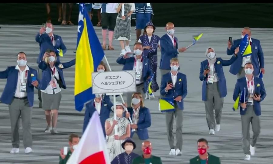 Cerić i Tuka ponosno ponijeli zastavu BiH na Olimpijskim igrama u Tokiju