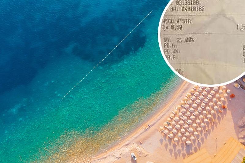 """""""Neću ništa"""" u kafiću na plaži u Budvi košta 0,50 euro"""