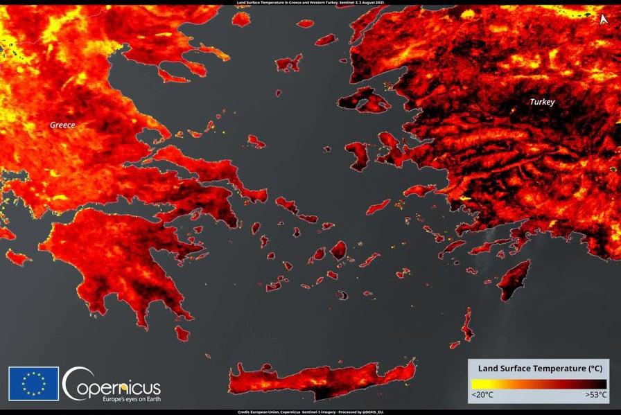 Mediteran u žestokom toplinskom valu, u Grčkoj temperature i do 53 stepena