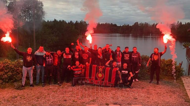 "Neformalna grupa ""Robijaši Švedska"" podržali NK Čelik"