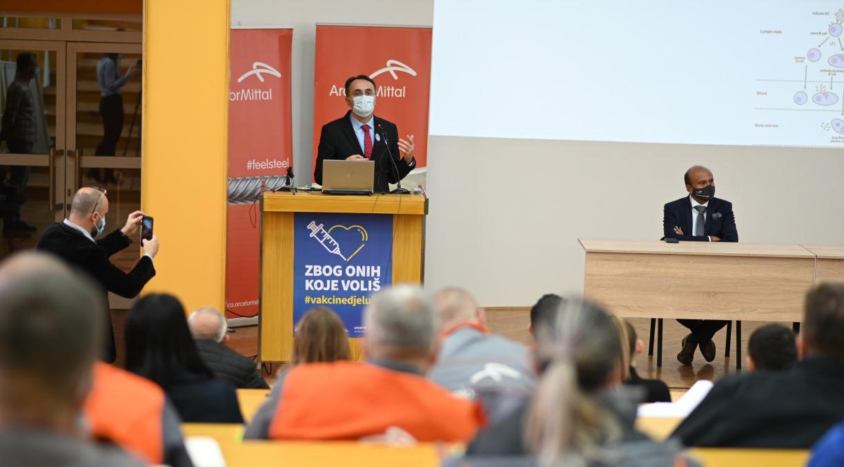 Održano predavanje u ArcelorMittalu Zenica o važnosti vakcinacije (FOTO)