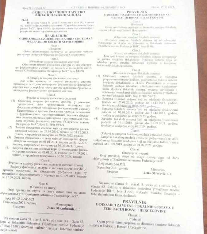 Fiskalizacija Kasa Dokument
