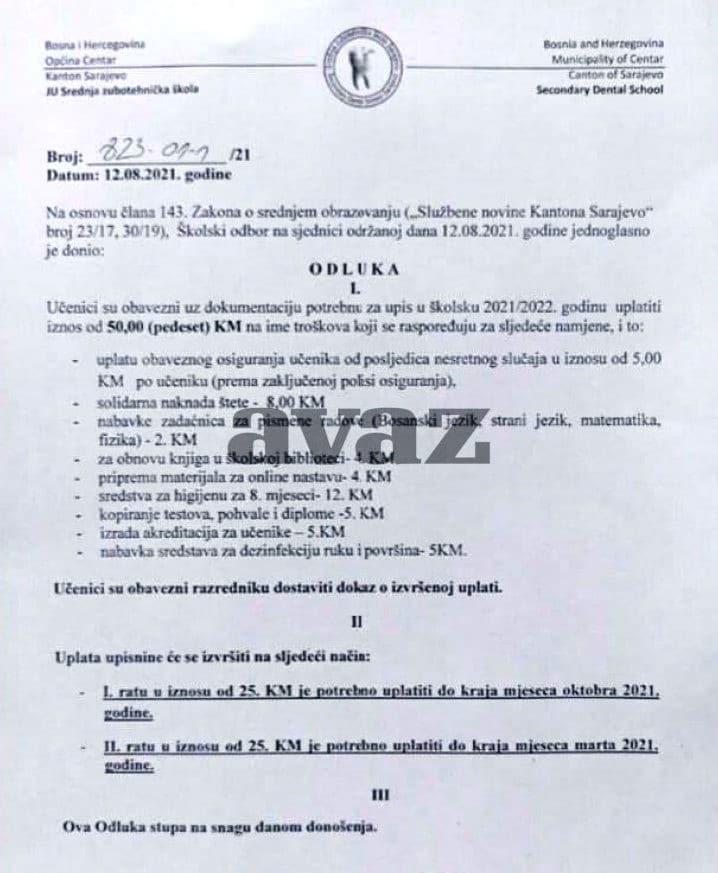 Ucenici I Roditelji U Sarajevu Moraju Skolama Placati I Kupovinu Dezionfekcionih Sredstava