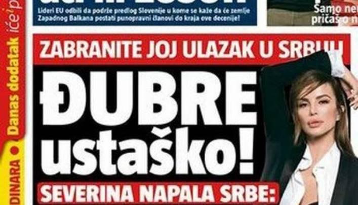 Brutalni napad tabloida na Severinu zbog odbijanja saradnje s negatorima genocida